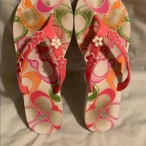 Coach Shoes - Coach Poppy Kasey Flip Flop size 8